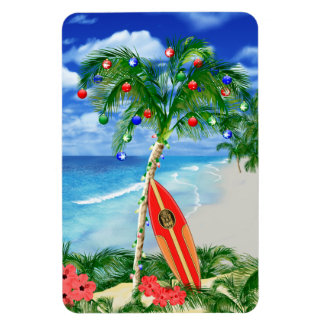Beach Christmas Magnet