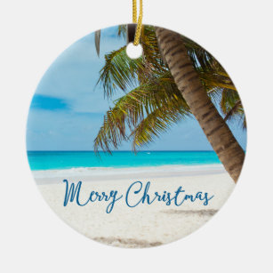 beach christmas ornaments ceramic palm tree - Beach Christmas Ornaments