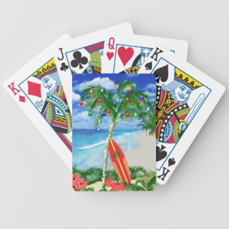 Beach Christmas Bicycle Playing Cards