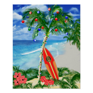 Beach Christmas Posters