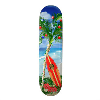 Beach Christmas Skateboard Deck