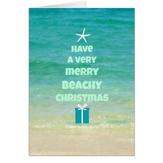 Beach Christmas Word Tree Card