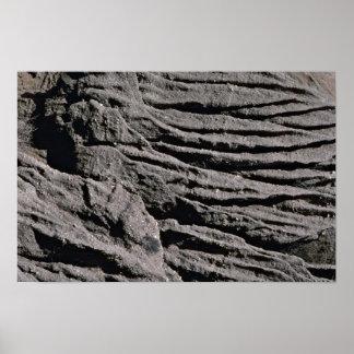 Beach cliff erosion textures San Clemente U S A Print