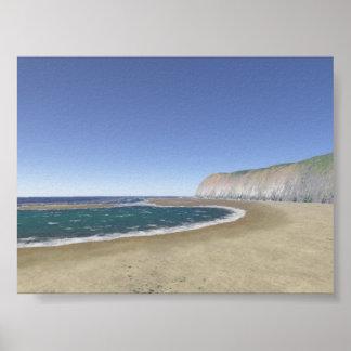 Beach Cliffs Poster