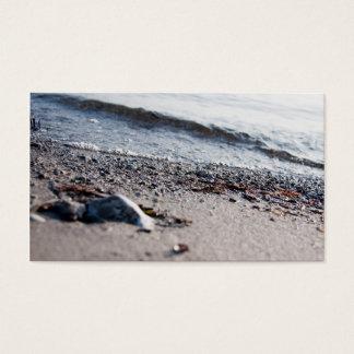 Beach close up business card