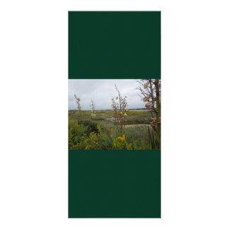 Beach Clouds and Wildflowers - Oak Island, NC Custom Rack Card