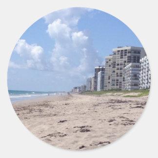 Beach Clouds Classic Round Sticker