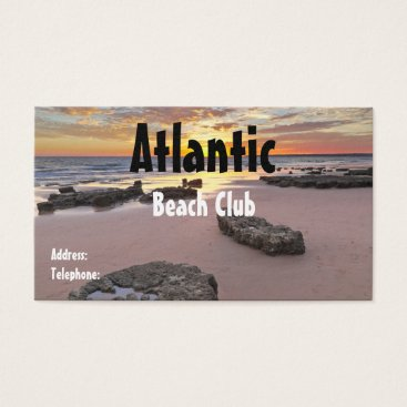 Beach Themed Beach Club Business Card. Summer theme Business Card