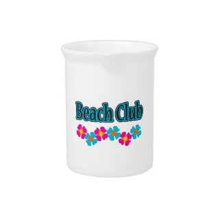BEACH CLUB FLOWERS BEVERAGE PITCHERS