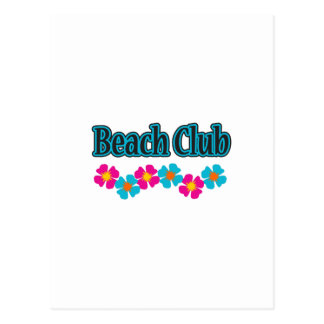 BEACH CLUB FLOWERS POSTCARD