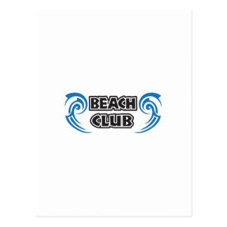 BEACH CLUB WAVES POSTCARD