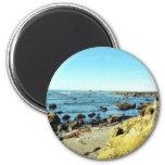 Beach Coast In Monterey Ocean Water Sea 2 Inch Round Magnet