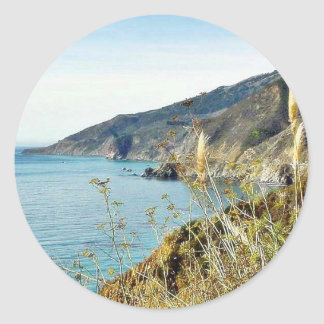 Beach Coast Ocean Water Sea Dill Round Stickers