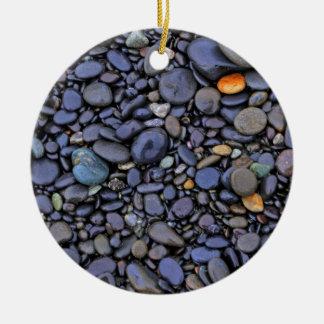Beach Cobbles Ceramic Ornament