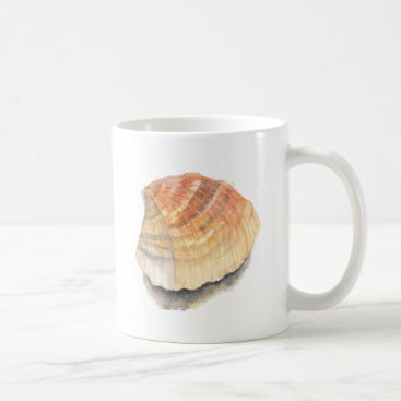 Beach Themed Beach Cockle Sea shell, yellow and orange Coffee Mug