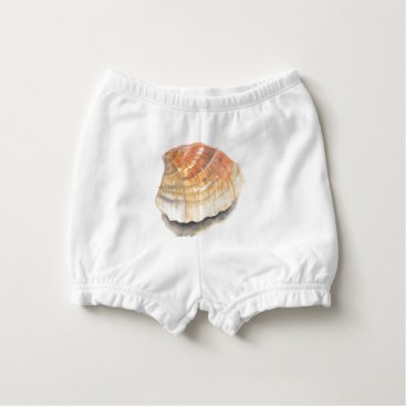 Beach Themed Beach Cockle Sea shell, yellow and orange Diaper Cover