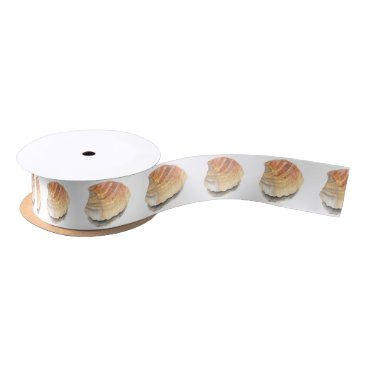 Beach Themed Beach Cockle Sea shell, yellow and orange Satin Ribbon