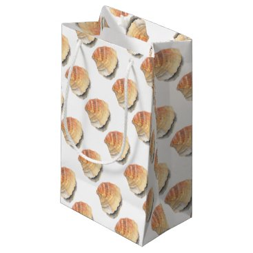 Beach Themed Beach Cockle Sea shell, yellow and orange Small Gift Bag