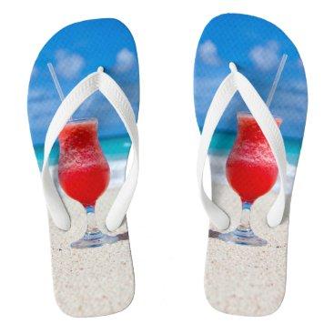 Beach Themed Beach Cocktail Flip Flops