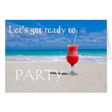 Beach Themed Beach Cocktail save the date Card