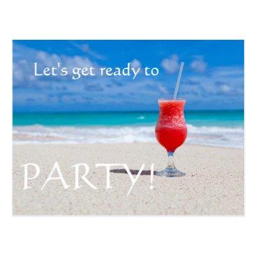 Beach Themed Beach Cocktail save the date Postcard