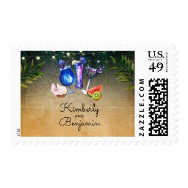 Beach Themed Beach Cocktails Tropical Wedding / Party Postage
