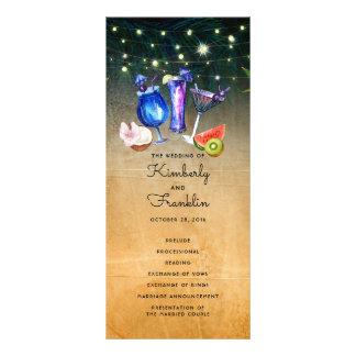 Beach Coctails Wedding Programs