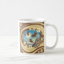 art, beach, cancun, caribbean, graphic, hawaii, illustration, island, landscape, nature, palms, sea, south, summer, sunlight, sunset, travel, tropical, tropics, Caneca com design gráfico personalizado