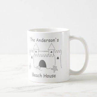 Beach Collection Custom Name Sand Castle Coffee Mug