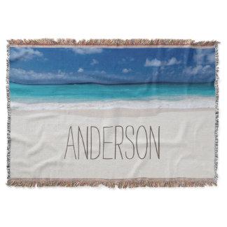 Beach Collection Custom Name Throw Blanket