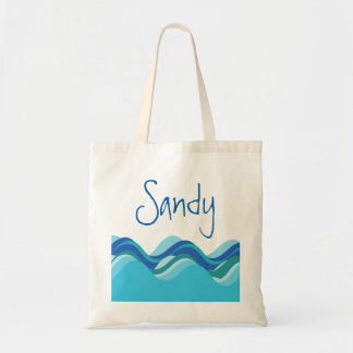 BEach Collection: Custom Name Wave Tote