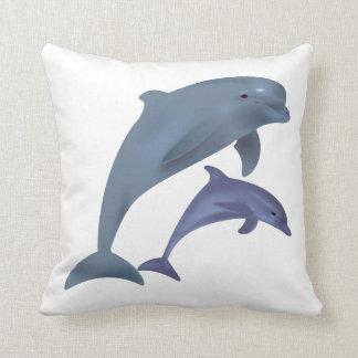 Beach Collection: Dolphin Throw Pillow