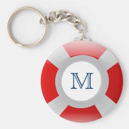 Beach Collection: Lifesaver Monogram Keychain
