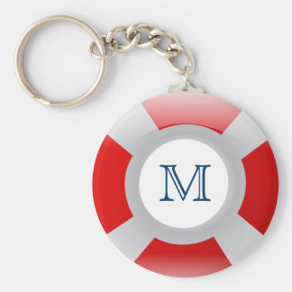 Beach Collection: Lifesaver Monogram Keychain