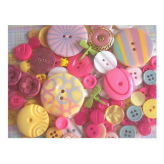 Beach Color Buttons Postcard
