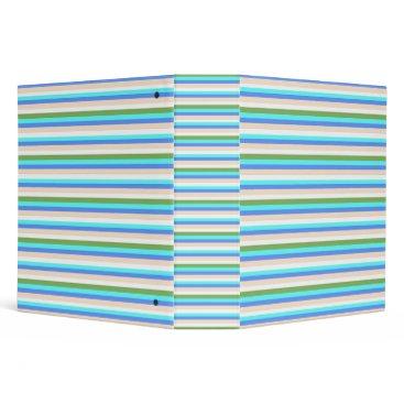 Beach Themed Beach color stripes of Sint Maarten notebook binde Binder