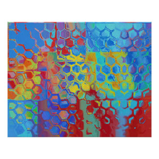 Beach Colors Abstract Poster