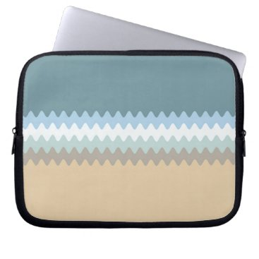 Beach Themed Beach Colors Light Brown/Sand/Beige/Turquoise/Blue Computer Sleeve