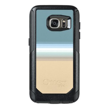 Beach Themed Beach Colors Light Brown/Sand/Beige/Turquoise/Blue OtterBox Samsung Galaxy S7 Case
