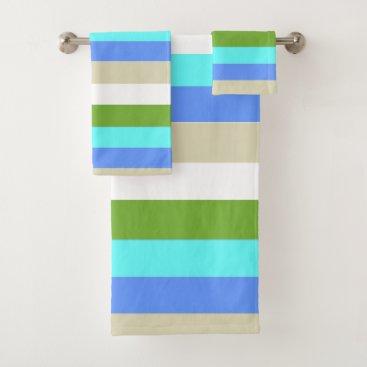 Beach Themed Beach colors of Sint Maarten Bath Towel Set