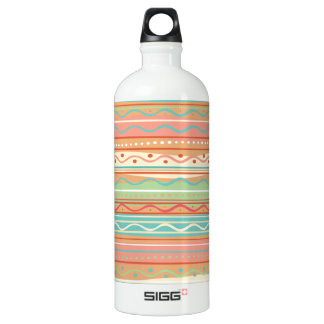 Beach Colors with Wavy Stripes Aluminum Water Bottle