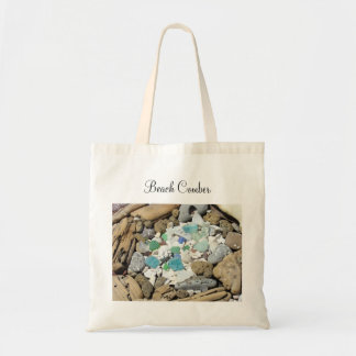 Beach Comber tote bags Sea Glass Driftwood totes