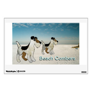 Beach Combers - Fox Terrier Window Advertising Wall Decal