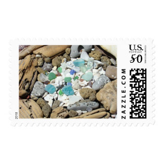 Beach Combers postage stamps Shells Fossils