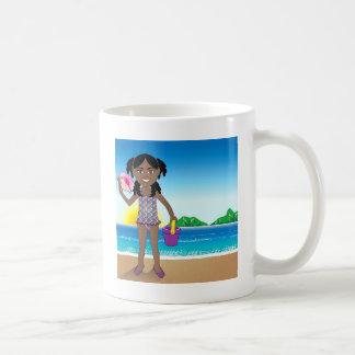 Beach Conch Shell Girl Coffee Mug
