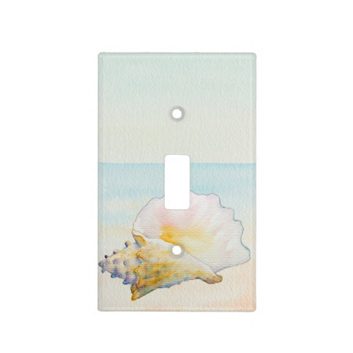 Beach Conch Shell Light Switch Cover Zazzle