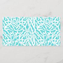 Beach Coral Reef Pattern Nautical White Blue