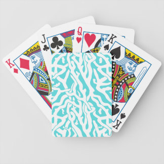 Beach Coral Reef Pattern Nautical White Blue Bicycle Playing Cards