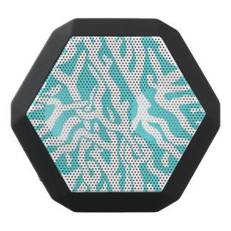 Beach Coral Reef Pattern Nautical White Blue Black Bluetooth Speaker