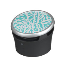 Beach Coral Reef Pattern Nautical White Blue Bluetooth Speaker